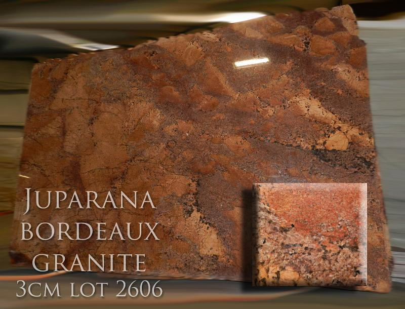 Juparana Bordeaux Granite 3cm Lot 2606